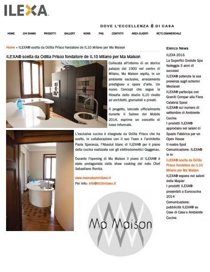 MaMaison Milano e Ilexa_2014